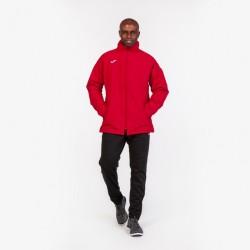 Bunda zateplená s dlouhým rukávem EVEREST JOMA s kapucí – červená