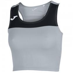 Běžecký dámský dres JOMA RACE - bez rukávů – šedá-černá