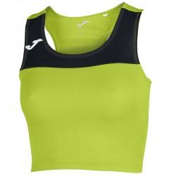 Běžecký dámský dres JOMA RACE - bez rukávů – světle zelená LIME-černá