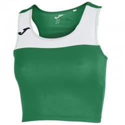 Běžecký dámský dres JOMA RACE - bez rukávů – tmavě zelená-bílá