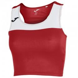 Běžecký dámský dres JOMA RACE - bez rukávů – červená-bílá