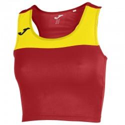 Běžecký dámský dres JOMA RACE - bez rukávů – červená-žlutá