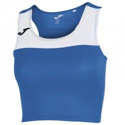 Běžecký dámský dres JOMA RACE - bez rukávů – světle modrá ROYAL-bílá