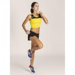Běžecký dámský dres JOMA RACE - bez rukávů – žlutá-černá