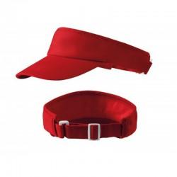 Čelenka s kšiltem - červená