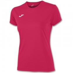 Dámské tričko JOMA COMBI – s krátkým rukávem – růžová FUCHSIA