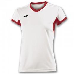 mikina dámská CHAMPION IV JOMA s dlouhým rukávem – červená-bílá