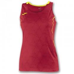 Tílko dámské OLIMPIA FALL JOMA bez rukávu – červená-žlutá
