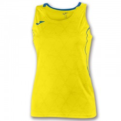 Tričko dámské OLIMPIA FALL JOMA krátký rukáv – zářivě zelená-světle modrá ROYAL