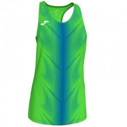 Běžecké dres JOMA RACE - bez rukávů – světle zelená LIME-černá