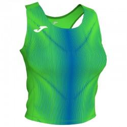 Tílko TOP OLIMPIA JOMA bez rukávu – zářivě zelená-světle modrá ROYAL