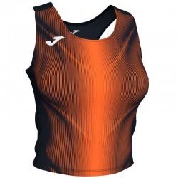 Tílko TOP OLIMPIA JOMA bez rukávu – černá-oranžová