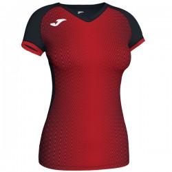 JOMA SUPERNOVA dámský dres s krátkým rukávem – černá-červená