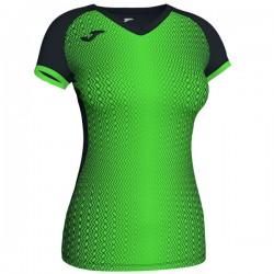 JOMA SUPERNOVA dámský dres s krátkým rukávem – černá-zářivě zelená