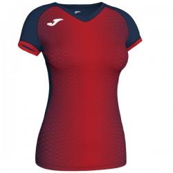 JOMA SUPERNOVA dámský dres s krátkým rukávem – modrá NAVY-červená