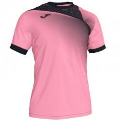 JOMA HISPA II sportovní dres s krátkým rukávem – růžová-černá