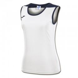 JOMA SPIKE dámský dres bez rukávu – bílá-modrá NAVY