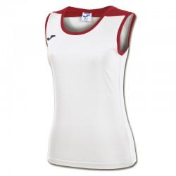 JOMA SPIKE dámský dres bez rukávu – bílá-červená