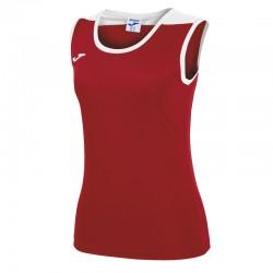 JOMA SPIKE dámský dres bez rukávu – červená-bílá