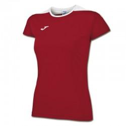 JOMA SPIKE dámský dres s krátkým rukávem – červená-bílá