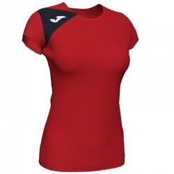 JOMA SPIKE II dámský dres s krátkým rukávem – červená-černá