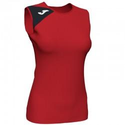 JOMA SPIKE II dámský dres bez rukávu – červená-černá