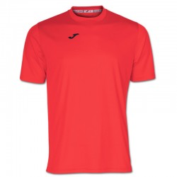Tričko pánské COMBI JOMA – s krátkým rukávem – zářivě oranžová KORAL