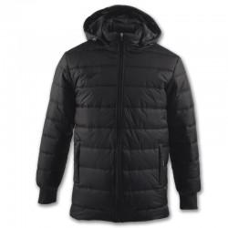 Zimní kabát s kapucí URBAN JOMA dlouhý rukáv – černá