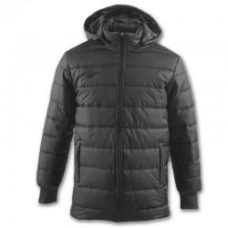 Zimní kabát s kapucí URBAN JOMA dlouhý rukáv – šedá ANTRACIT