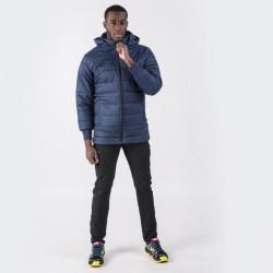 Zimní kabát s kapucí URBAN JOMA dlouhý rukáv – tmavě modrá NAVY