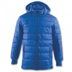 Zimní kabát s kapucí URBAN JOMA dlouhý rukáv – světle modrá ROYAL
