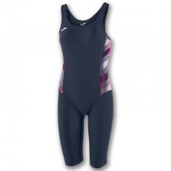 Plavky dámské-celkové s nohavicí SHARK JOMA – tmavě modrá NAVY-fialová